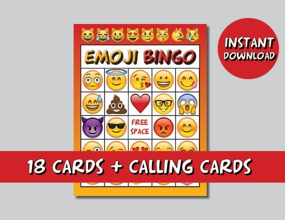 Emoji Bingo Party Game