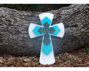 Wall Cross with Decorative Iron Cross