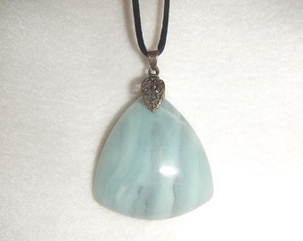 Amazonite pendant necklace (JO574)