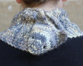 Neko Cowl - the cozy cat cowl knitting pattern - Instant PDF Download