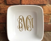 Ring Dish, Monogram Ring Dish, Personalized Ring Dish, Ring Dish Holder, Monogram, Wedding Gift, Bridesmaid Gift, Trinket Dish, Ring Holder