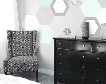 Mint Hexagon Wall Decals
