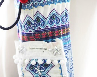 YOGA MAT BAG Yoga Bag Yoga Tote Yoga Bag Women (New line) Handmade Embroidered Pieces Of Tribal Costume.(032)