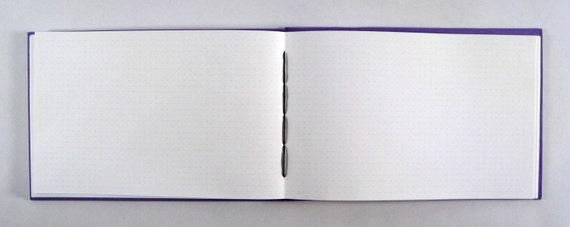 grid paper journal wide  landscape orientation  3  16
