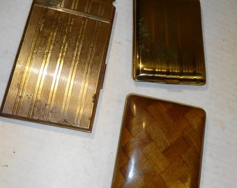 Vintage Cigarette Case Lot from estate