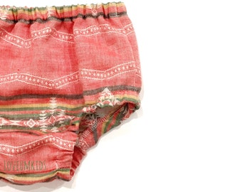 Boho Baby // Toddler Girls Ethnic Woven Bloomers,  Diaper Cover