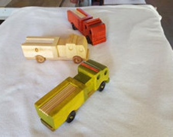 Fire Department City Pumper Truck Handmade Wooden Toy