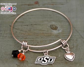 Oklahoma State Cowboys Memory Wire Bracelet