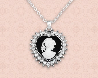 Heart Cameo Necklace - 48861