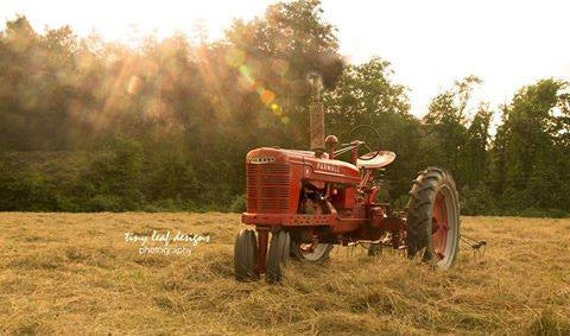 Farmall H Tractor Country Setting Original Photograph 5x7 8x10 11x14