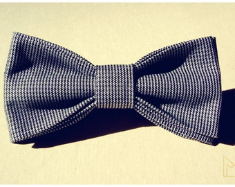 Gray Mens Bow Tie -FREE SHIPPING - Limited Edition - Handmade Bow Tie - Grooms Bow Tie - Luxury Mens Gift - Pre-Tied