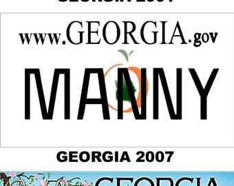 Personalized Georgia Refrigerator Magnet State License Plate Replica