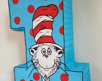 Amazing inspired Cat in the hat number 1 pinata party !!!!!