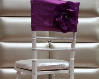 Short purple chair cover with flower. Free shipping!