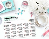 """SNARK SERIES: """"Sorry, I've got my Netflix pants on, I'm in for the night."""" Paper Planner Stickers!"""