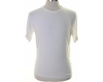 Pierre Cardin Mens T-Shirt Large White Cotton