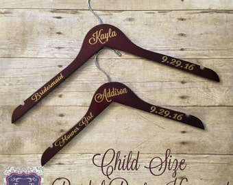 Child Size Bridal Party Hangers - Perfect for Flower Girl or Jr. Bridesmaid!