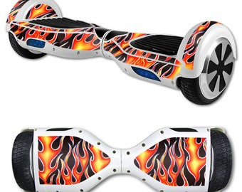 Skin Decal Wrap for Self Balancing Scooter Hoverboard unicycle Hot Flames
