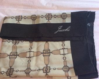 Vintage silk scarf Juschi square