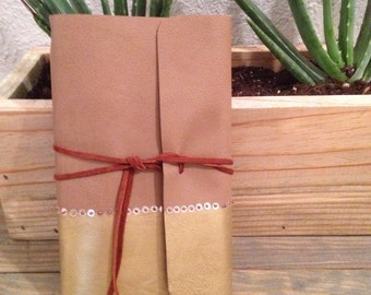 Leather Journal. Refillable Travel Journal. Leather Notebook. Gift for Her.