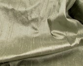 "Mellow Sage: Silk Dupioni Fabric, 21"" x 25"""