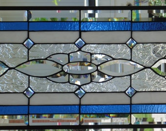 Stained Glass Window Hanging 30 X 14 1/2