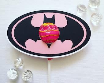 Batman lollipop holders