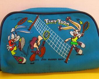 Vintage Tiny toon zipper pencil case 90's.Rare pencil case.Stationery 1990's.1994 Warner Bros