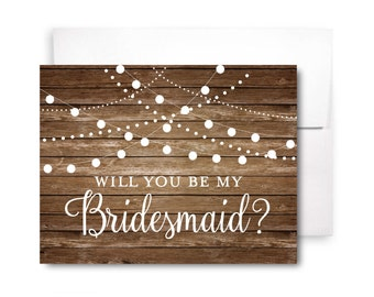 Will You Be My Bridesmaid Card, Bridesmaid Cards, Ask Bridesmaid, Bridesmaid Maid of Honor Gift, Matron of Honor, Flower Girl #CL101