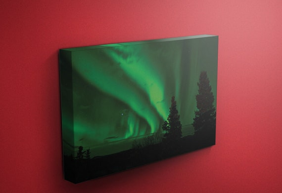 Aurora Borealis v2 | Mirror Wrapped HP  Canvas