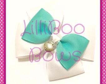 Handmade Ariel Little Mermaid Wedding Inspired Hair Bow