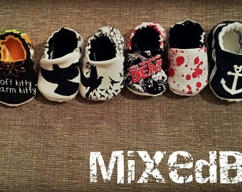 Made to order crib shoes/booties 0-3t