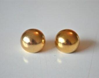 A pair of brass antique style ball finials 16mm RR3