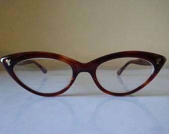 Vintage 1950's Cat Eye Eyeglasses By Liberty U.S.A. - FREE SHIPPING