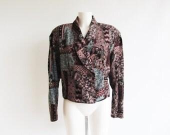 Vintage Blazer • Velvet Jacket • Womens Blazer • Womens Velvet Blazer • Womens Velvet Jacket • Womens velvet Jacket • Cropped Velvet Blazer