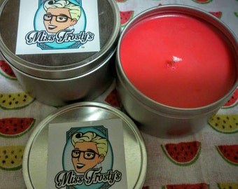 All Natural Artisan Soy Wax Candle Watermelon