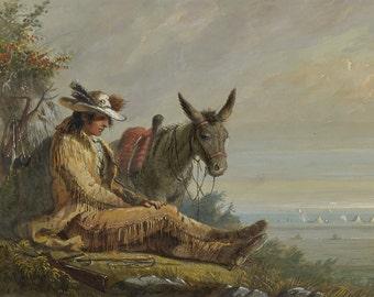 Alfred Jacob Miller: Pierre. Fine Art Print/Poster. (003834)
