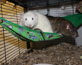 Custom made to order small animal corner hammock (rats, mice, hamsters, degus)