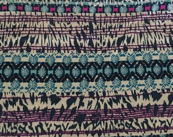 Teal magenta ethnic animal print swaddle blanket