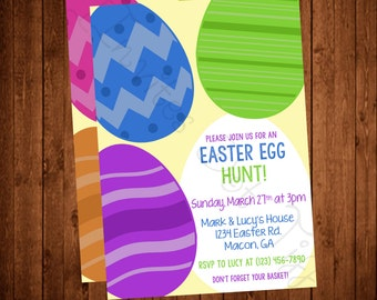 Big Eggs Easter Egg Hunt Printable Invitation