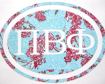 Pi Beta Phi Sticker Decal Sorority - Great Initiation, Bid Day or Big Little Gift!