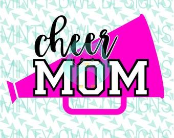 Cheer Mom SVG Cut File - Cheerleader Mom - Cheerleading - Dance - I Love Dance - Tshirt - Cricut - Silhouette - Instant Download