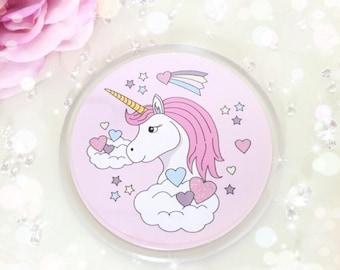 Pink Unicorn Love Coaster...
