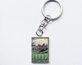Hobbit mini book keychain