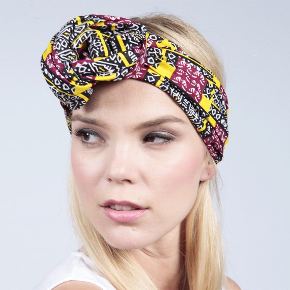 African Bands: African Print Headband Hair Band Afrocentric Tribal Print