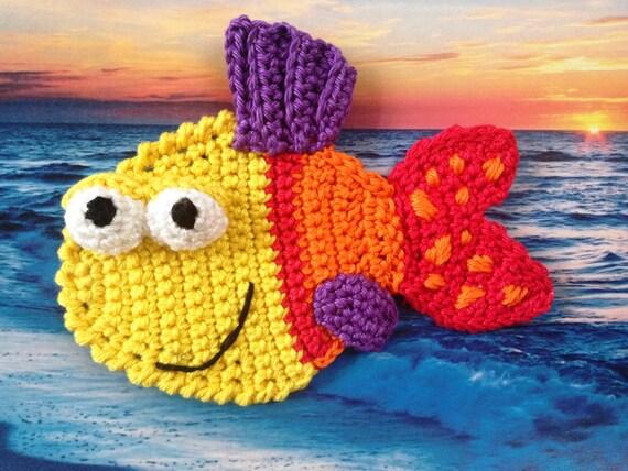 Free Crochet Pattern For A Fish : Crochet Applique pattern Crochet Fish applique pattern