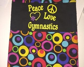 Gymnastics Grip bag- Peace, Love, Gymnastics