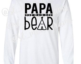 Papa Bear Long Sleeve