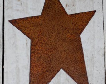 "5"" Rusty Tin Stars ... set of 6 primitive Stars .. scrapbook, craft embelllishments"