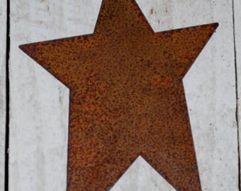 "4"" Rusty Tin Stars ... set of 6 primitive Stars .. scrapbook, craft embelllishments"